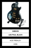 Mini gitara ACE FREHLEY-Gibson Les Paul Black