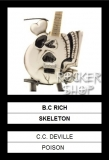 Mini gitara C.C.DEVILLE-B.C.Rich Skeleton