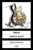 Mini gitara GENE SIMMONS-Gibson Les Paul Black
