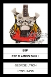 Mini gitara GEORGE LYNCH-ESP Flaming Skull