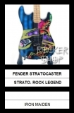 Mini gitara IRON MAIDEN-Fender Stratocaster Rock Legend