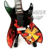 Mini gitara JAMES HETFIELD-B.C.RICH Brown Cross