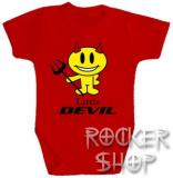 Body detské LITTLE DEVIL-red