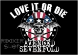 Vlajka AVENGED SEVENFOLD-Love It Or Die