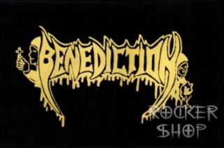 Nášivka BENEDICTION-žlté logo