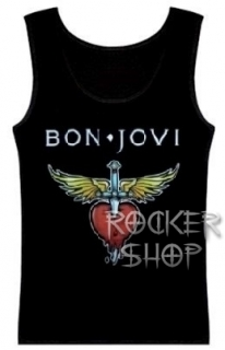 Tričko BON JOVI dámsky top-Winged Heart