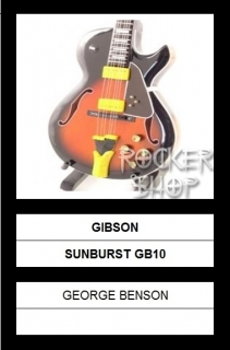 Mini gitara GEORGE BENSON-Gibson Sunburst GB10