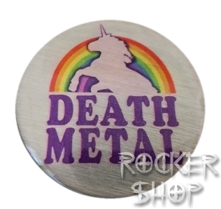 Magnetka DEATH METAL-Unicorn Rainbow