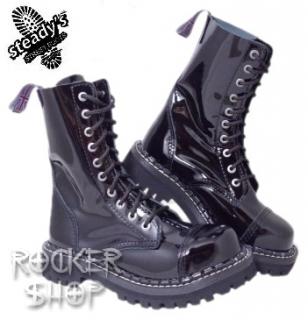c9138d4f4785e Topánky STEADY´S - 10 dierkové black shine