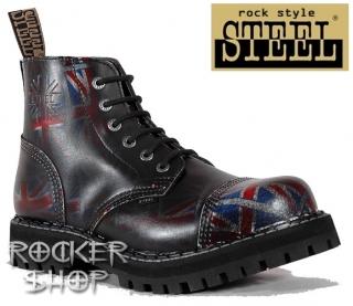 545b30d86ba3 Topánky STEEL z ROCKERshopu-kvalitná celokožená obuv s oceľovou špicou