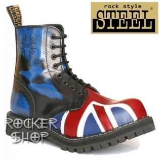 Topánky STEEL-8 dierkové britská vlajka 1d1953eab8